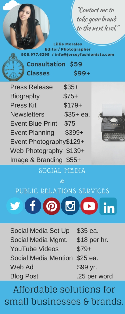 Social Media and Public Relations Pricing